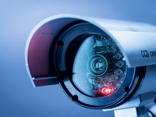 CCTV security camera at commercial property in Chester